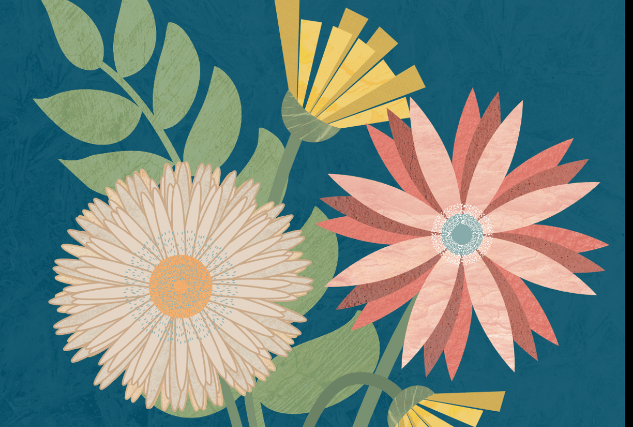 Florals in Affinity Designer - student project