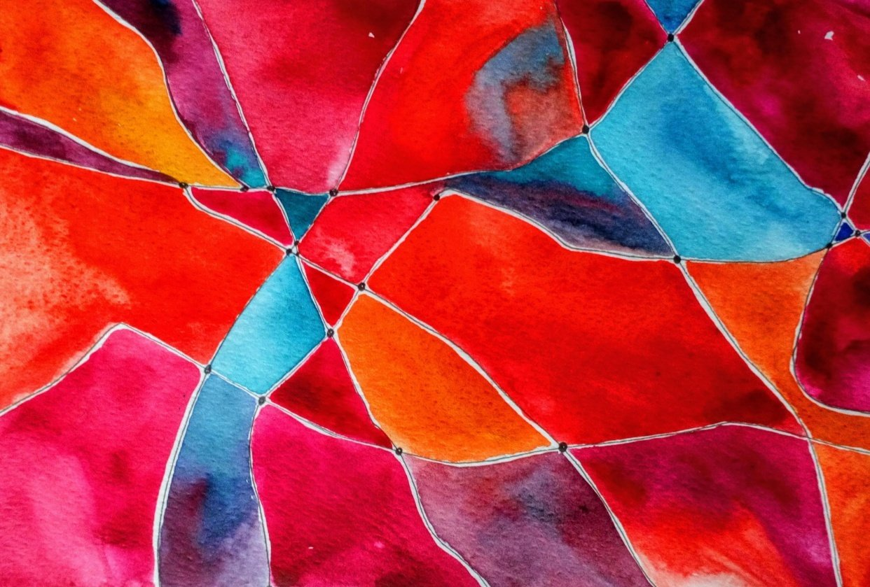 Doodle Art Meets Watercolor: Paint an Abstract Net Design - student project