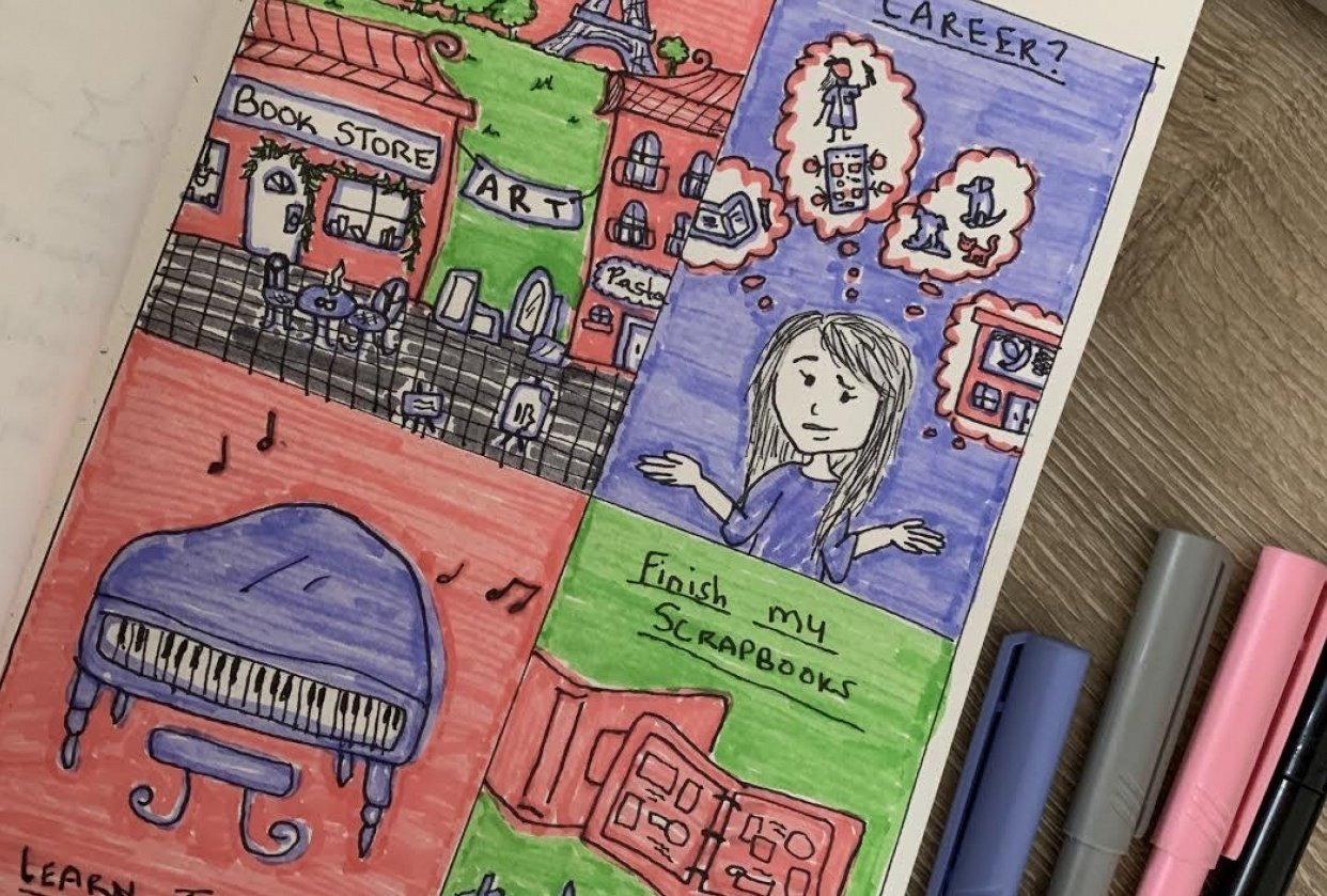 Visual Journaling: Drawing My Feelings! - student project