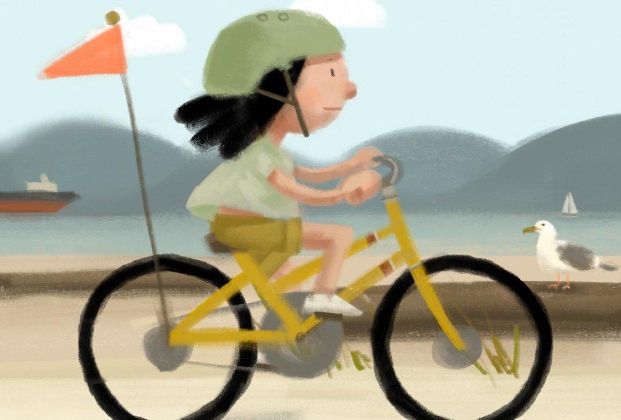 seaside biker - student project