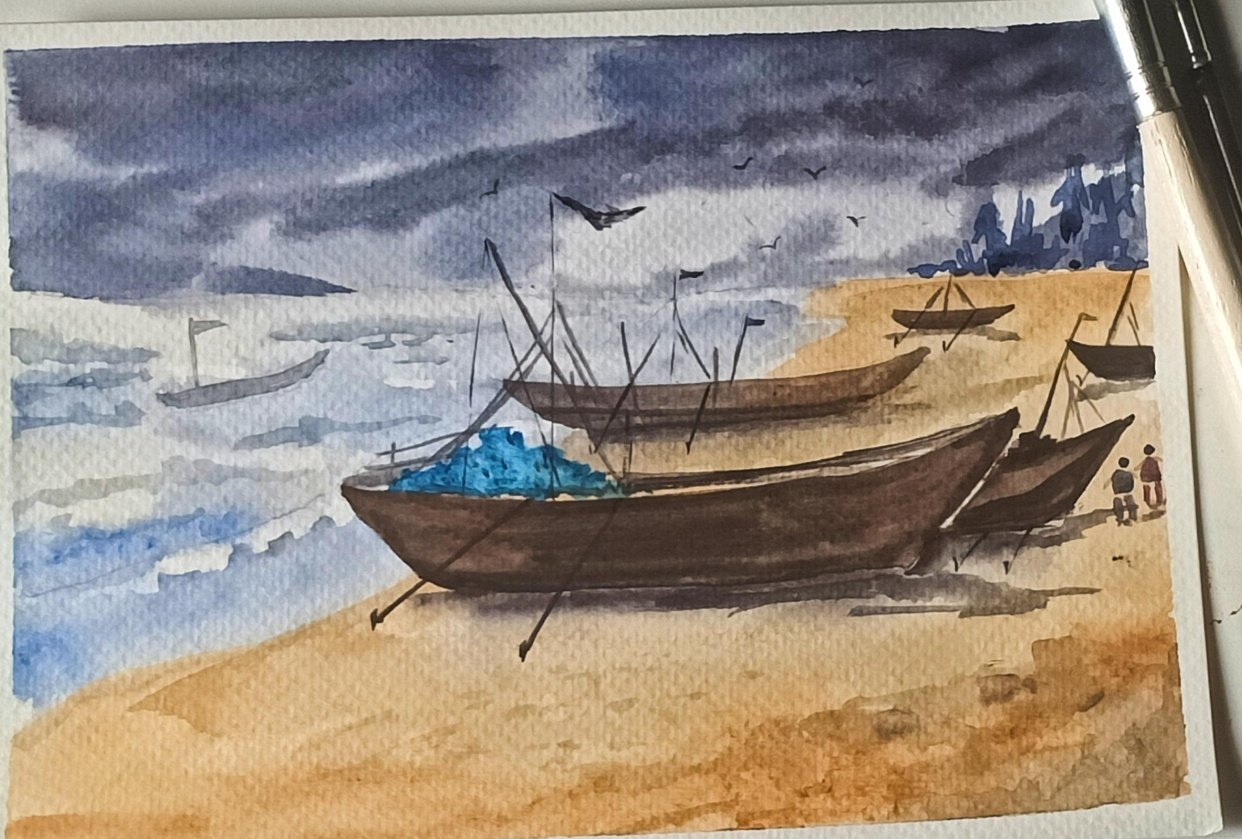 Stormy Seascape - student project