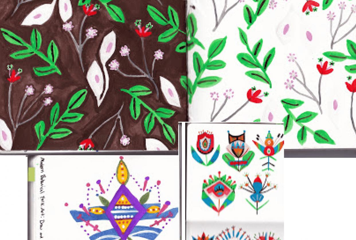 Folkart Flowers - student project