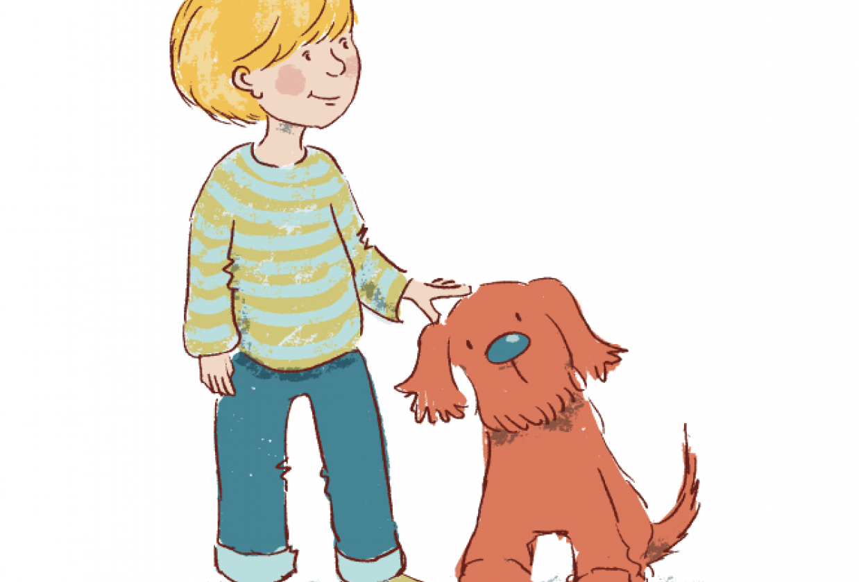 Girl and Dog - student project