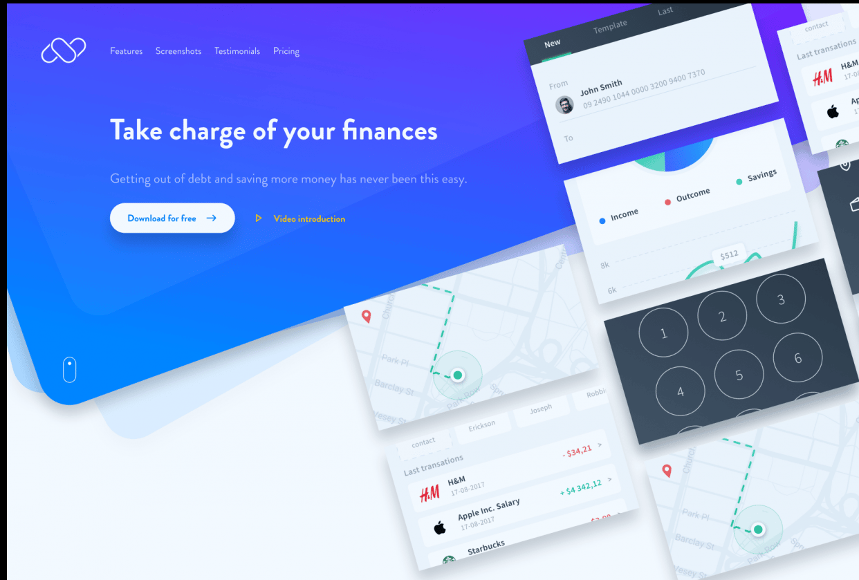 Figma Landing Page - student project