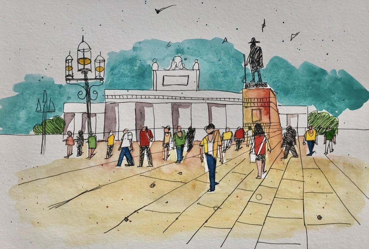 Urban Sketching Essentials: Drawing People and Crowds Made Simple - student project
