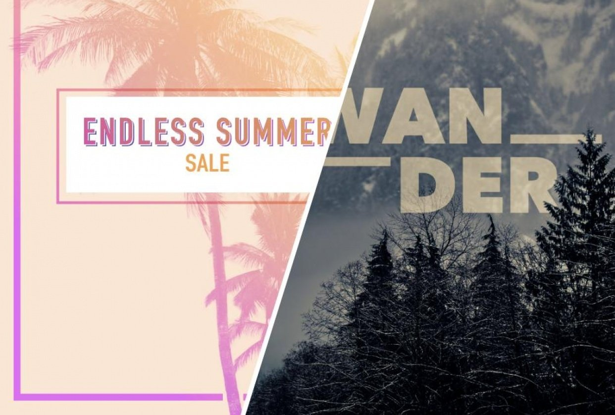 Endless Summer & Wander Poster - student project