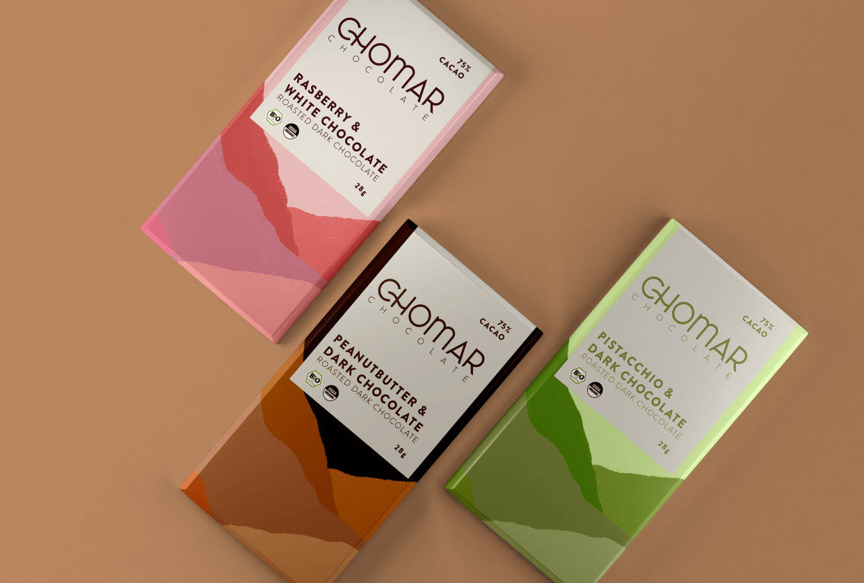Chomar Chocolate Bar Package Design - student project