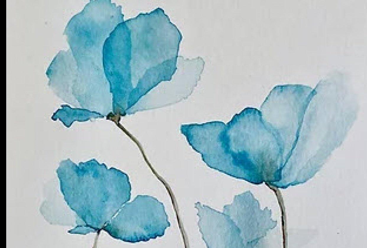 Little Blue Flowers - student project