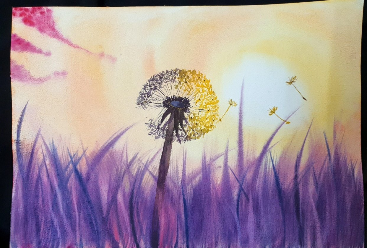 Dandelion in the Autumn Sun - student project