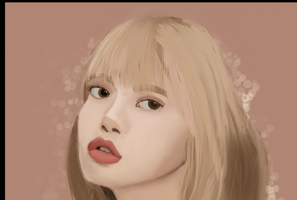 Blackpink's Lisa - My First Digital Drawing - student project