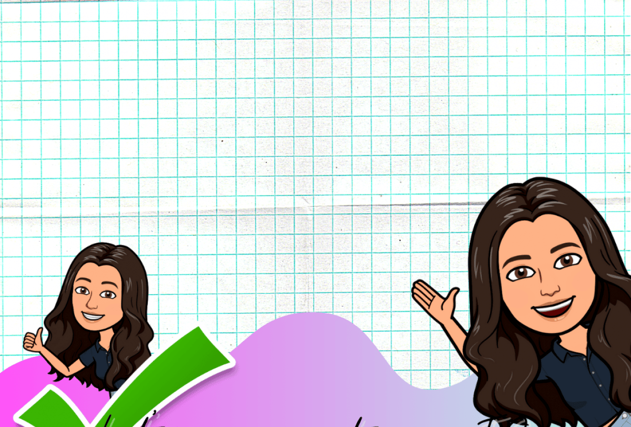Follow me poster with my Bitmoji - student project
