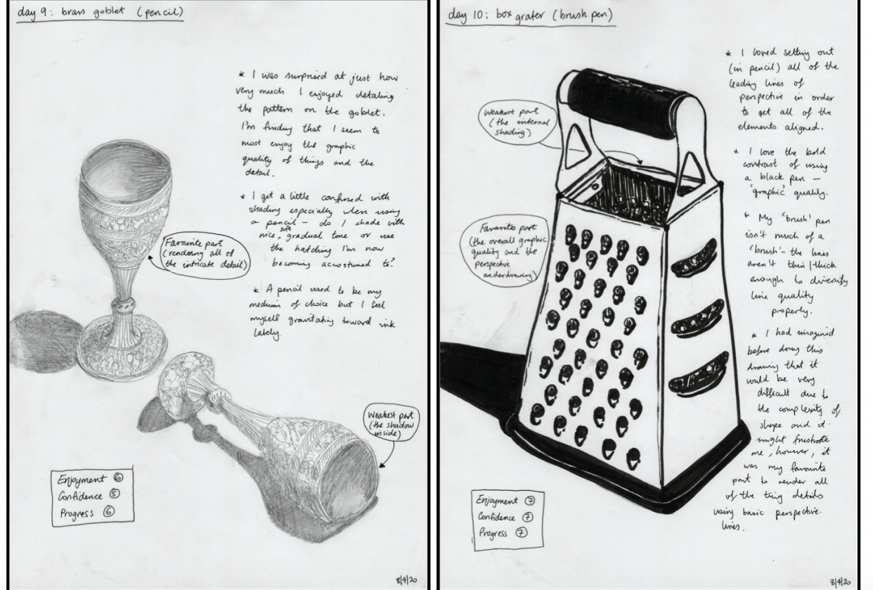 14 days of drawing - student project