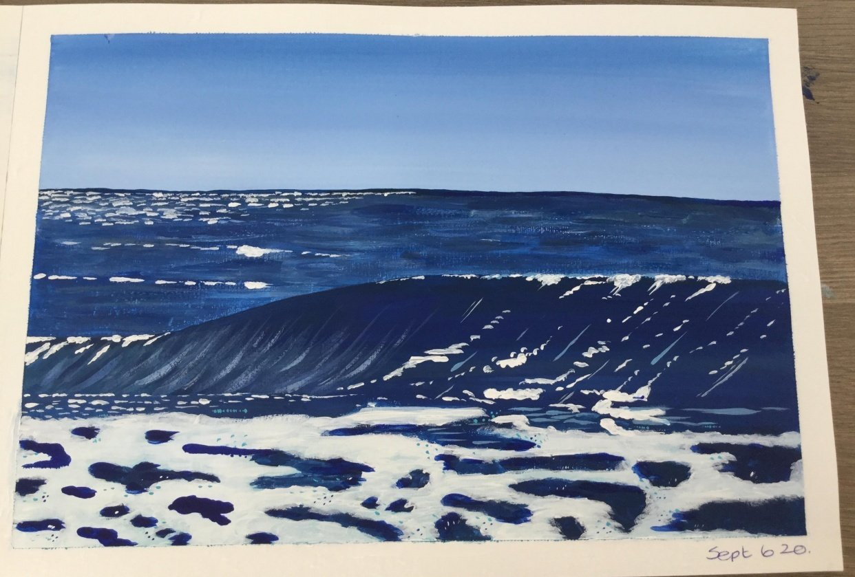 My first ever wave painting! - student project