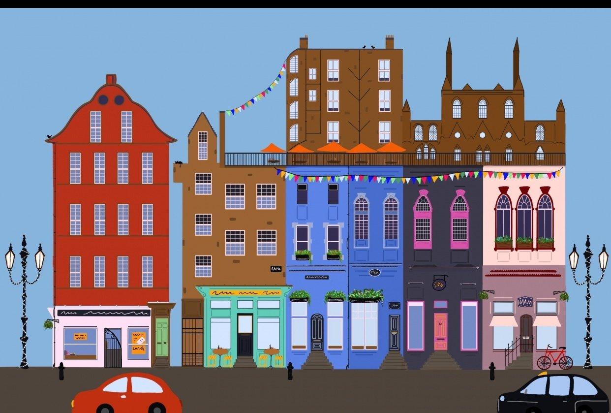 Victoria Street Edinburgh - student project