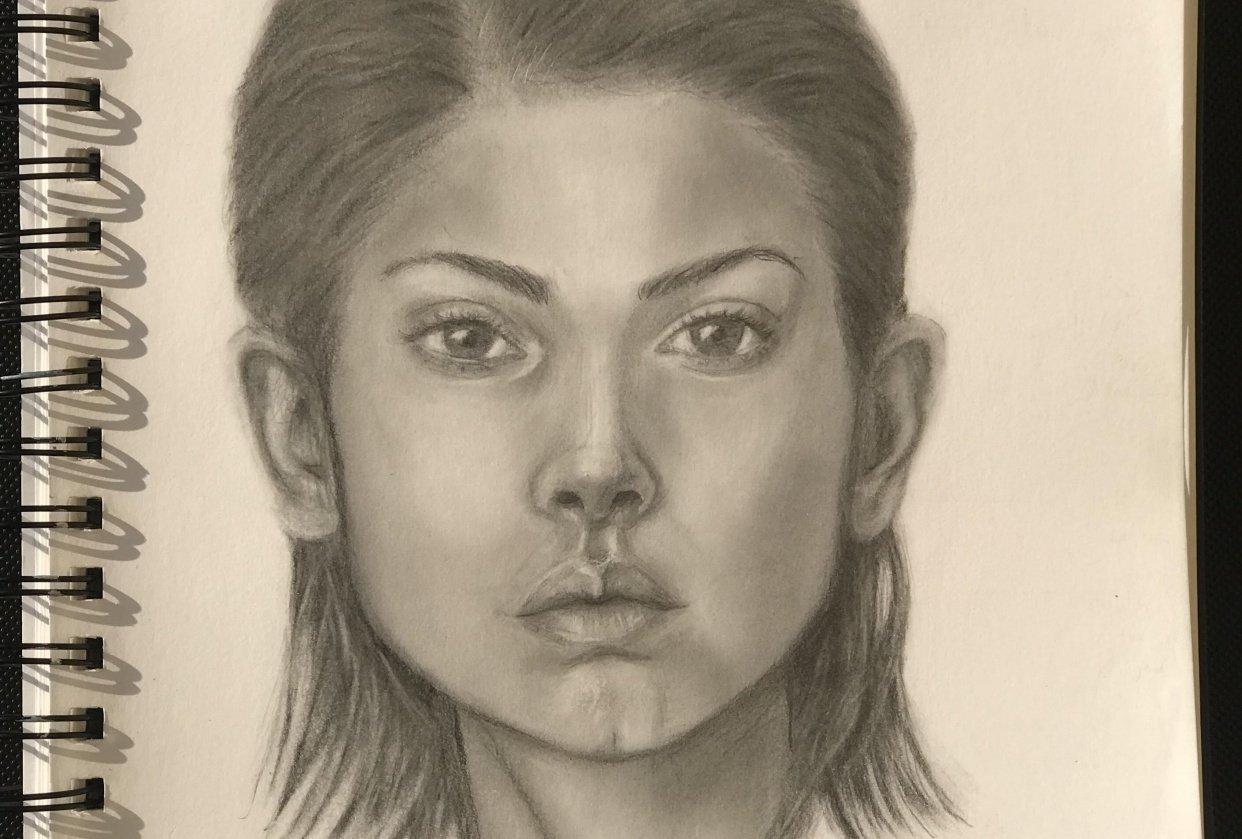 Model Portrait Study - student project