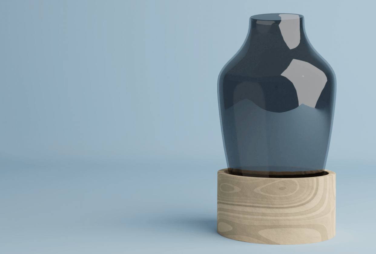 Vase in a wooden Pot - student project