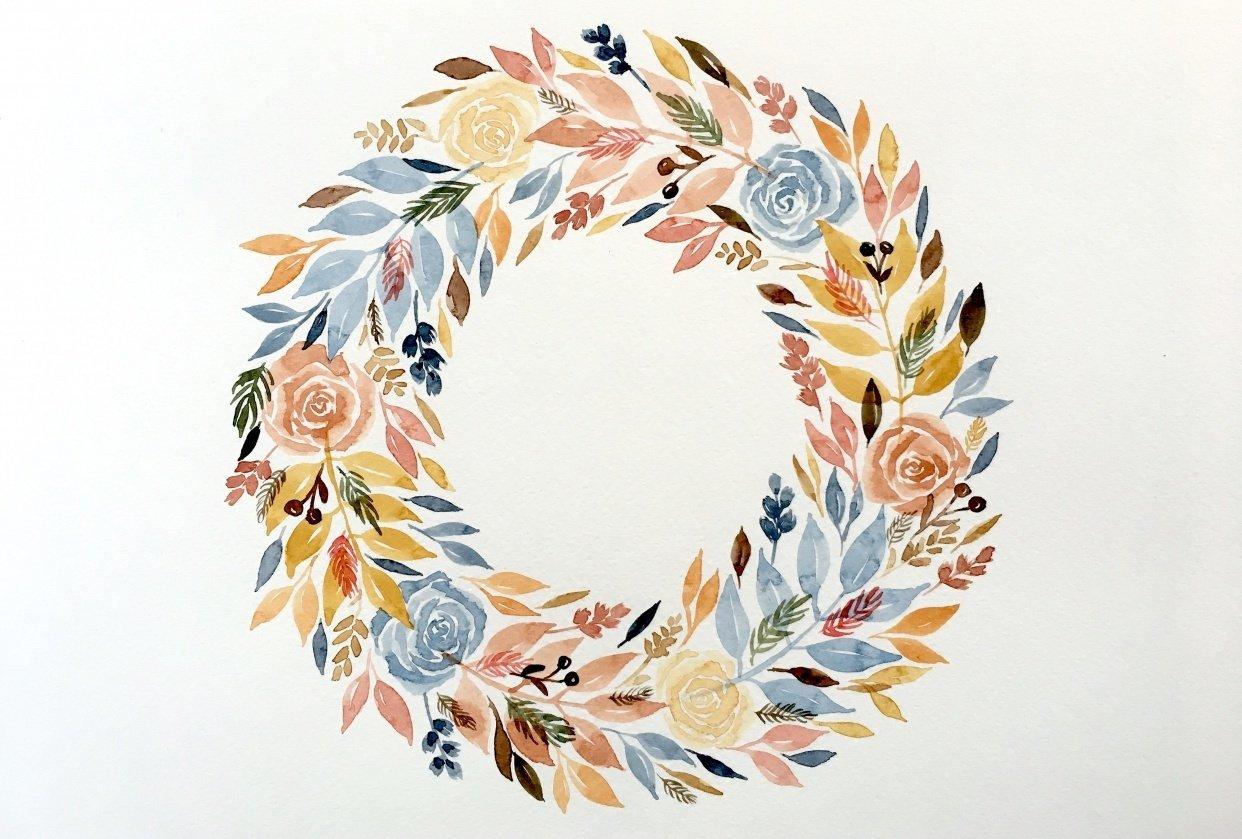 Autumn wreath - student project