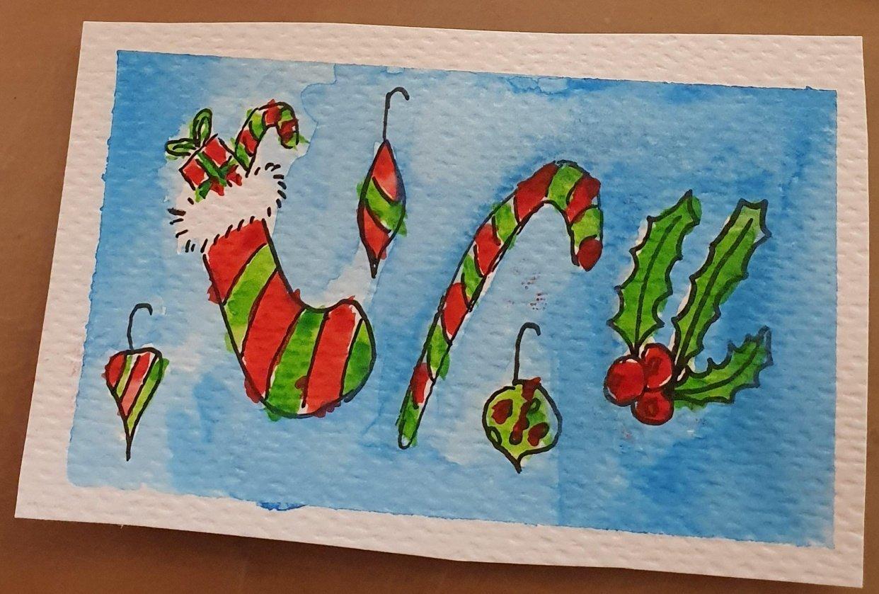Cute chrismas cards - student project