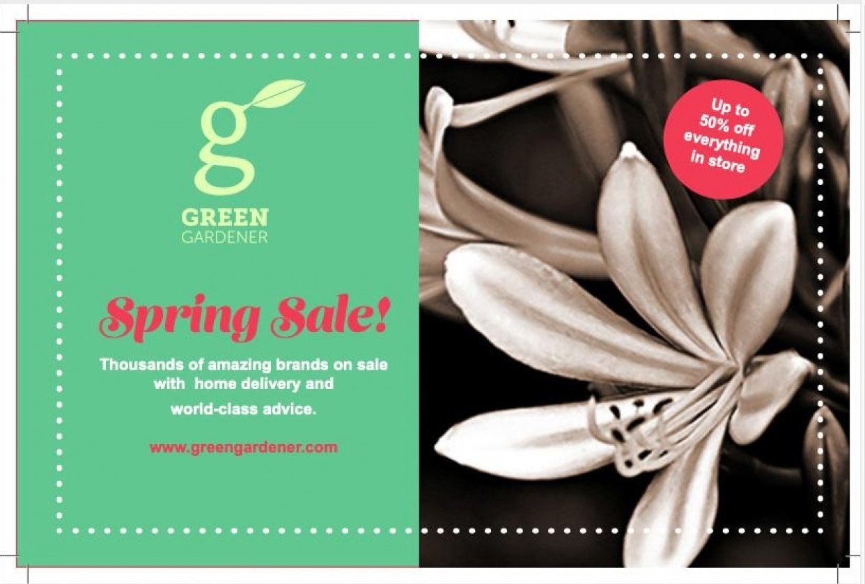 Green Gardener - Spring Sale! flyer - student project