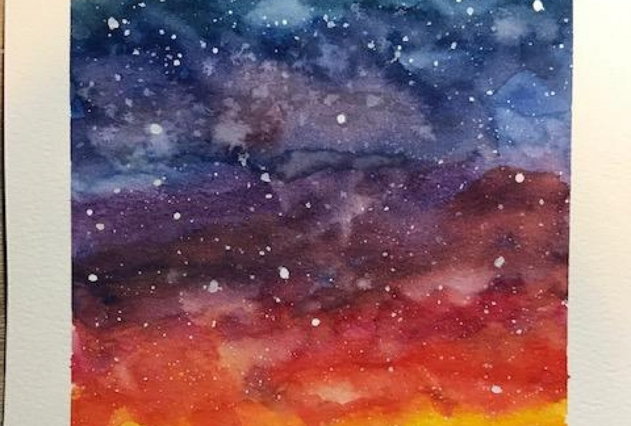 Colorful galaxy - student project