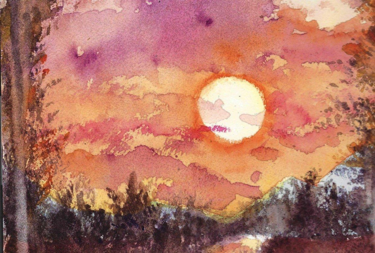 Sunset magenta and orange - student project