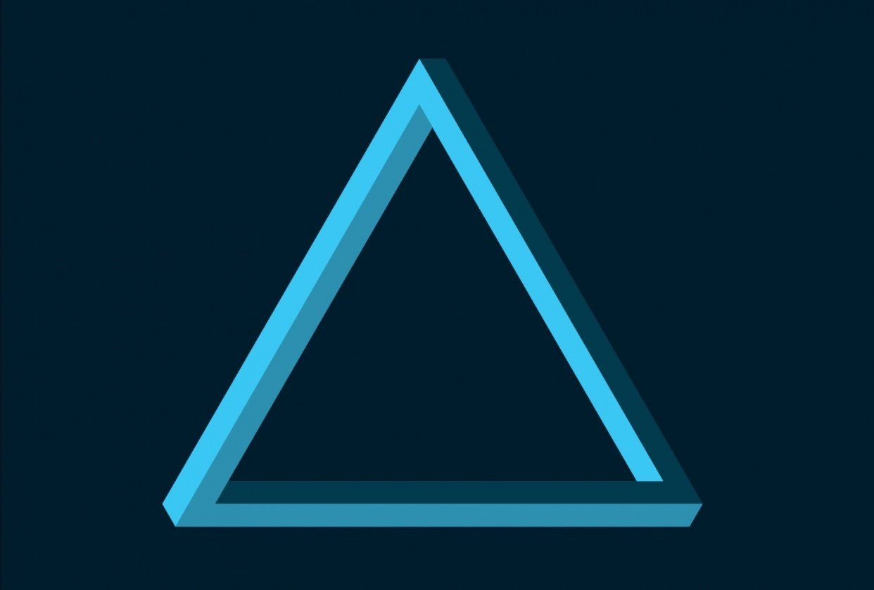 Complex Triangle Using Shape Builder Tool - student project