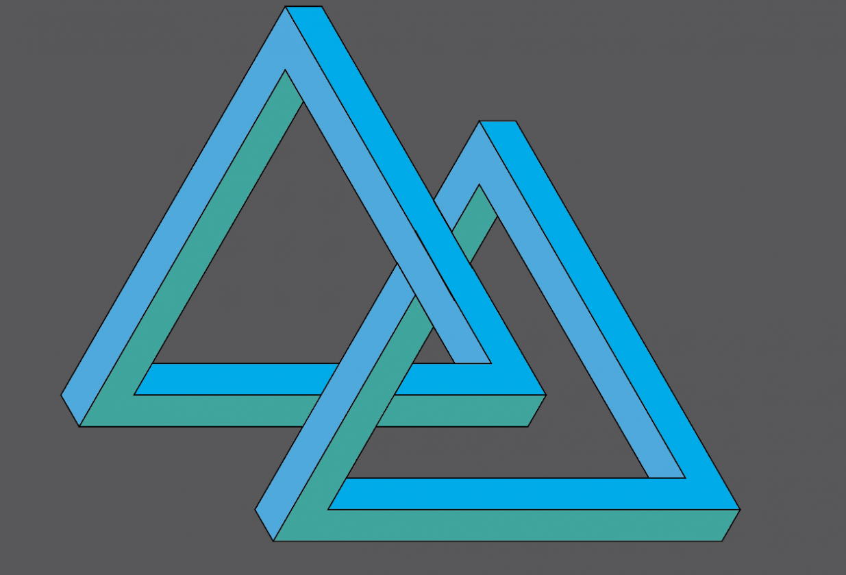 Triangle with Shape Builder - student project