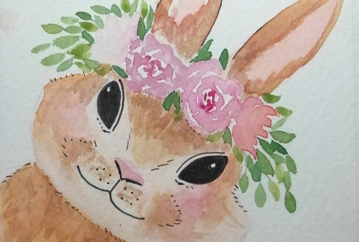 flower bunny - student project