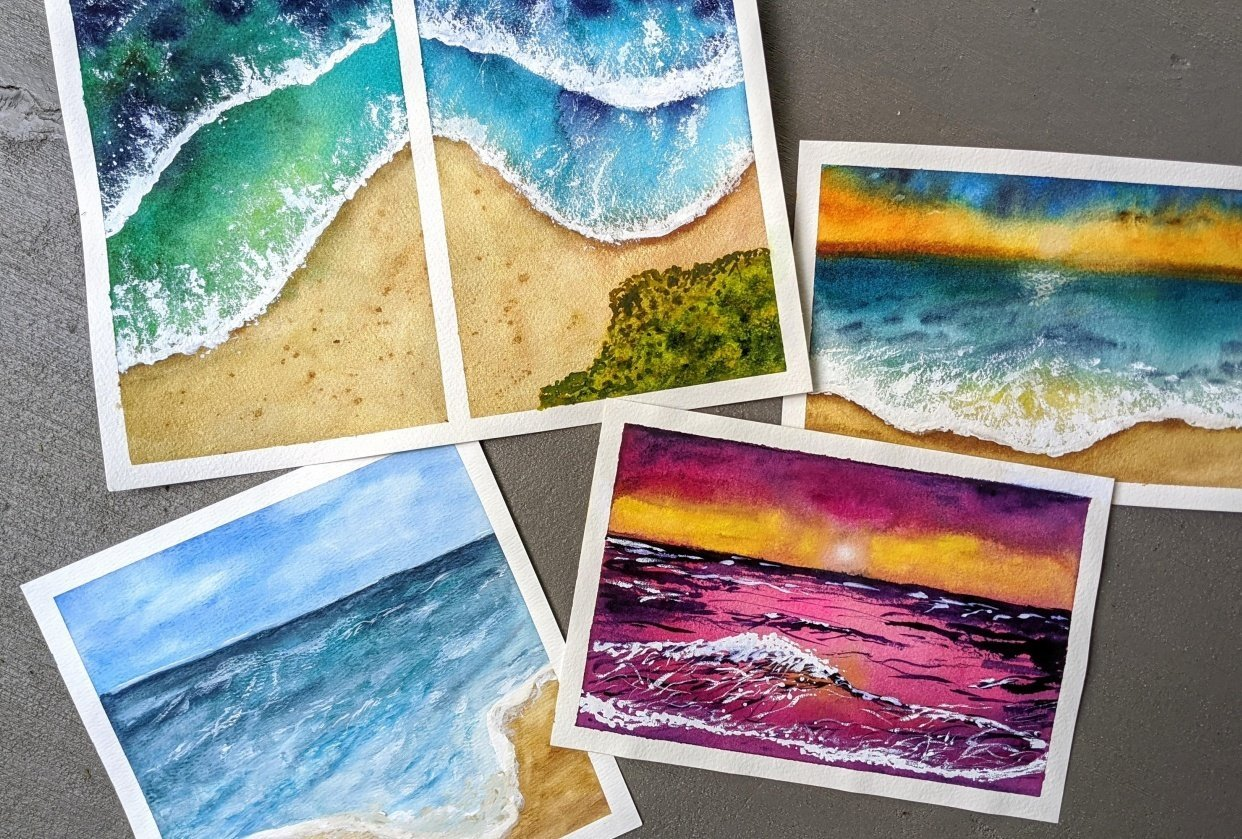 Beachscapes - an amazing class! - student project