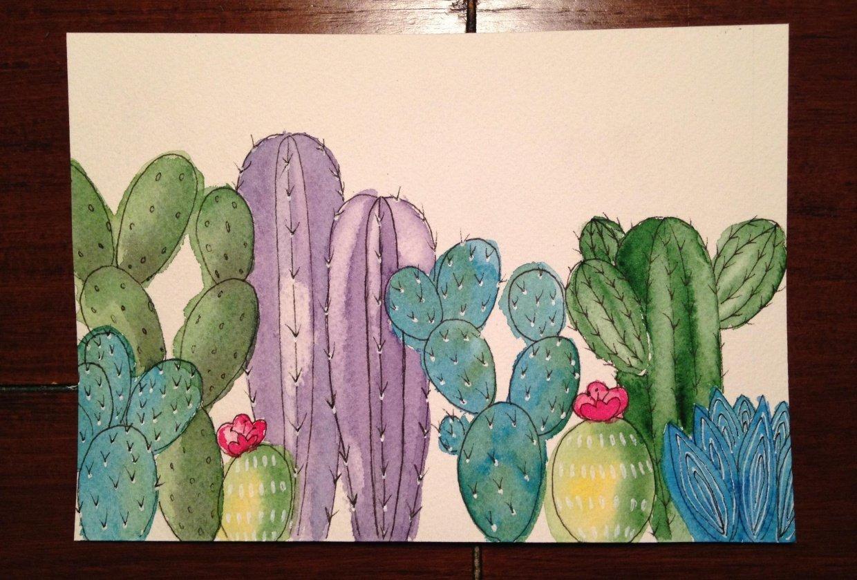 Cacti Illustration - student project