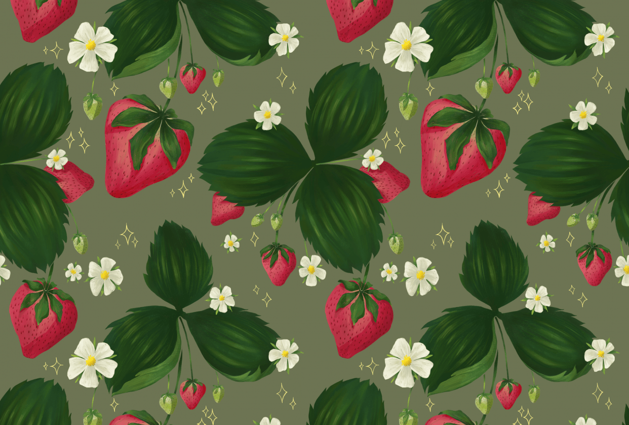 Strawberry Pattern - student project