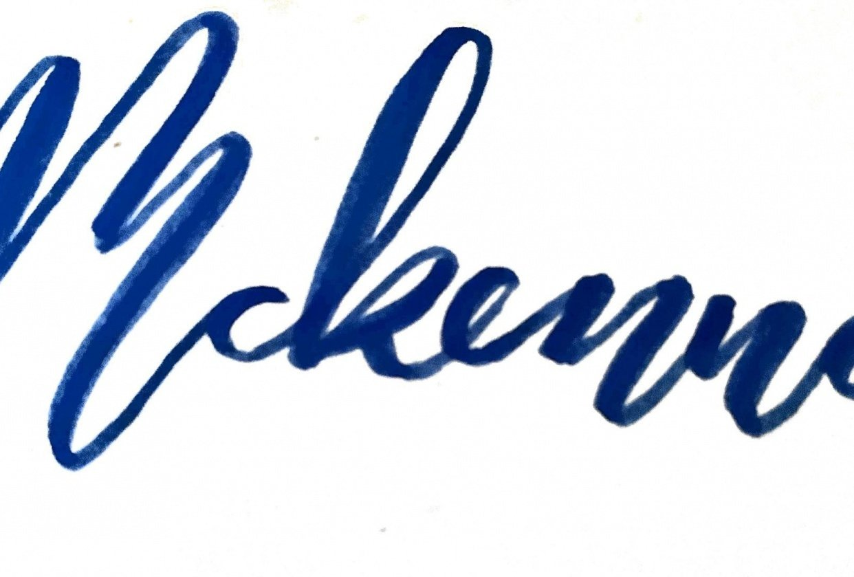 McKenna in bounce lettering - student project