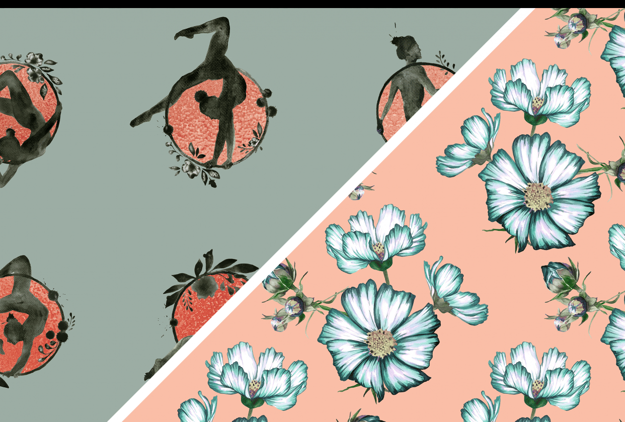 Pattern creation from sketch to screen - student project