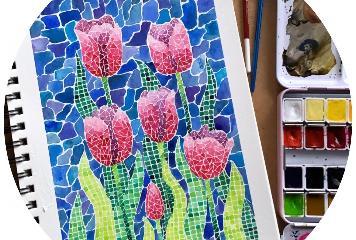 My Project for Watercolor Mosaics - student project