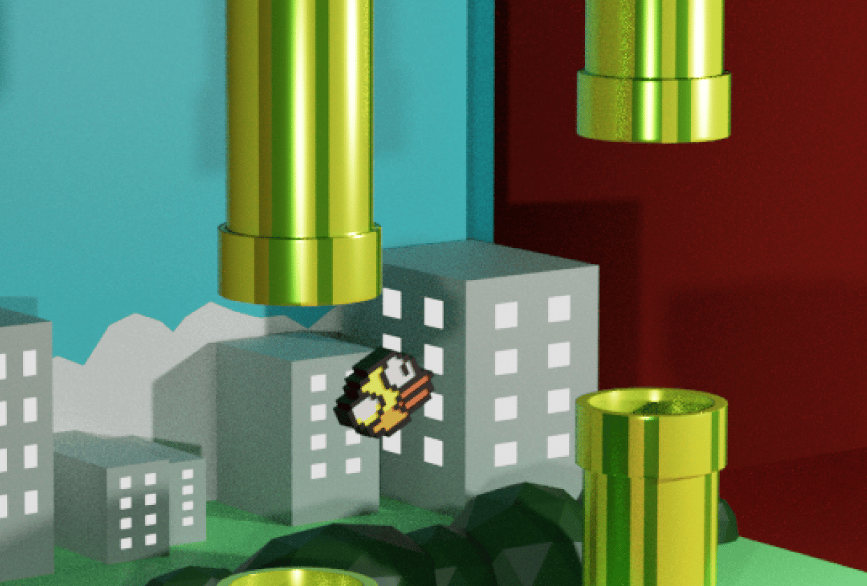 Flappy Bird. - student project