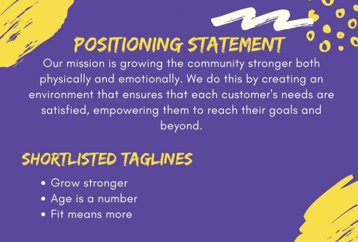 Positioning Statement - student project