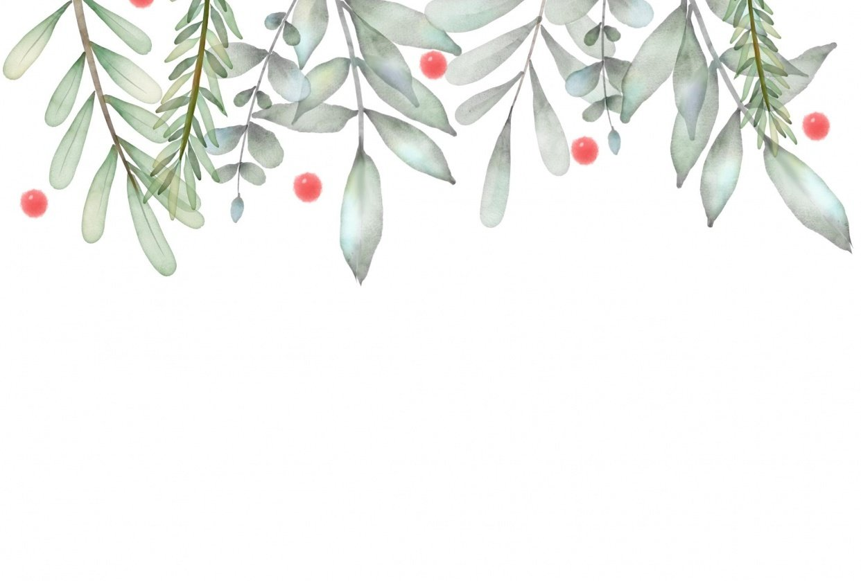 Soft botanic digital watercolor - student project