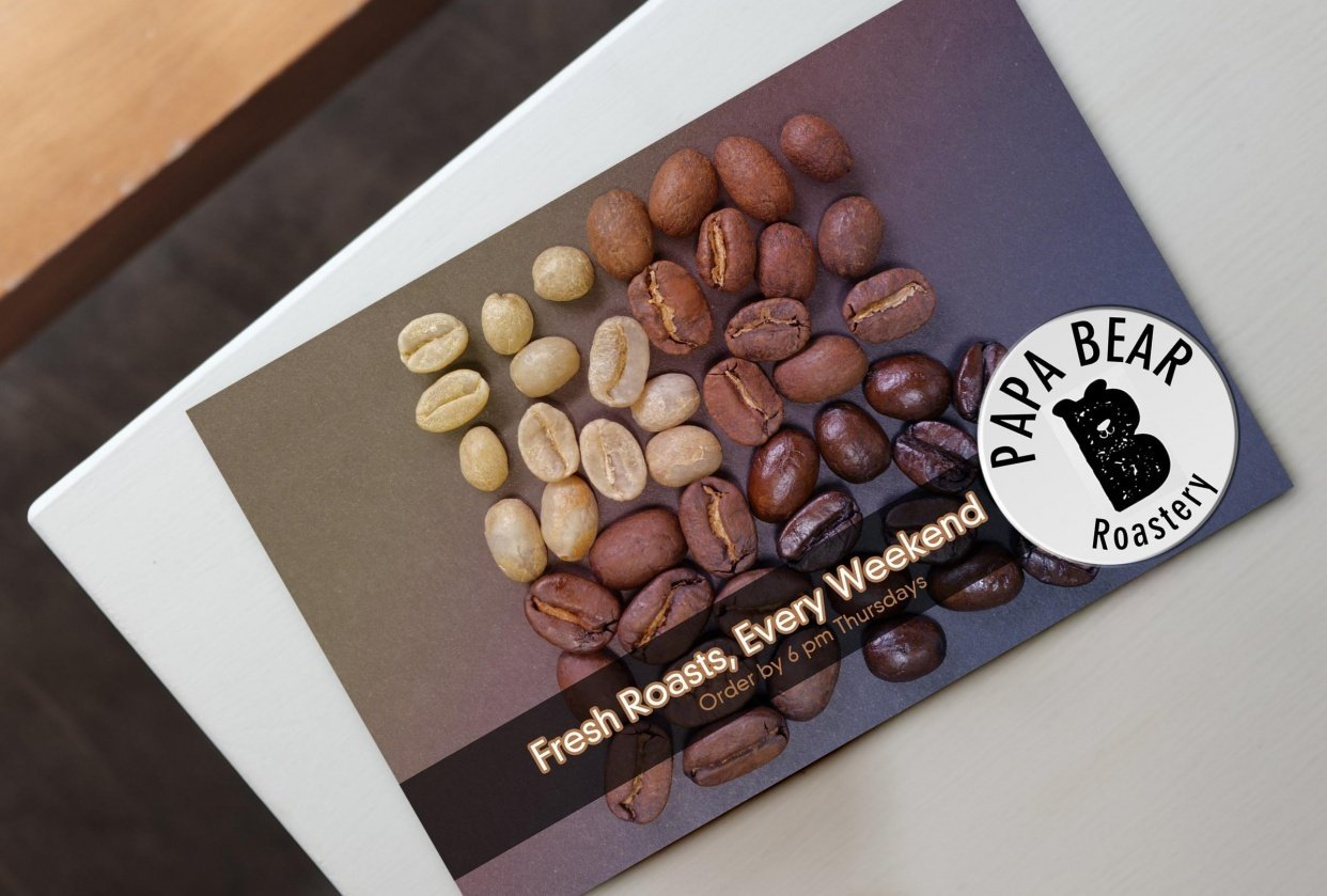Roastery Postcard - student project