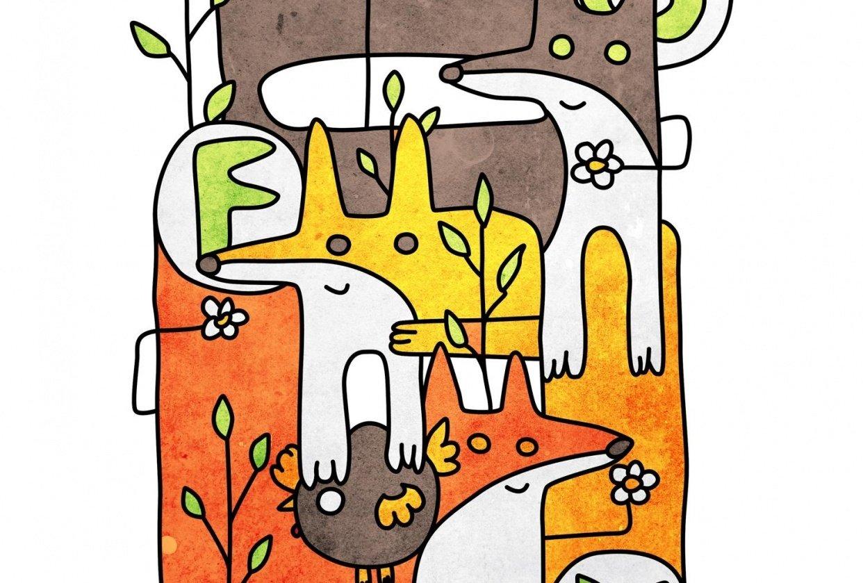 Fox doodles - student project