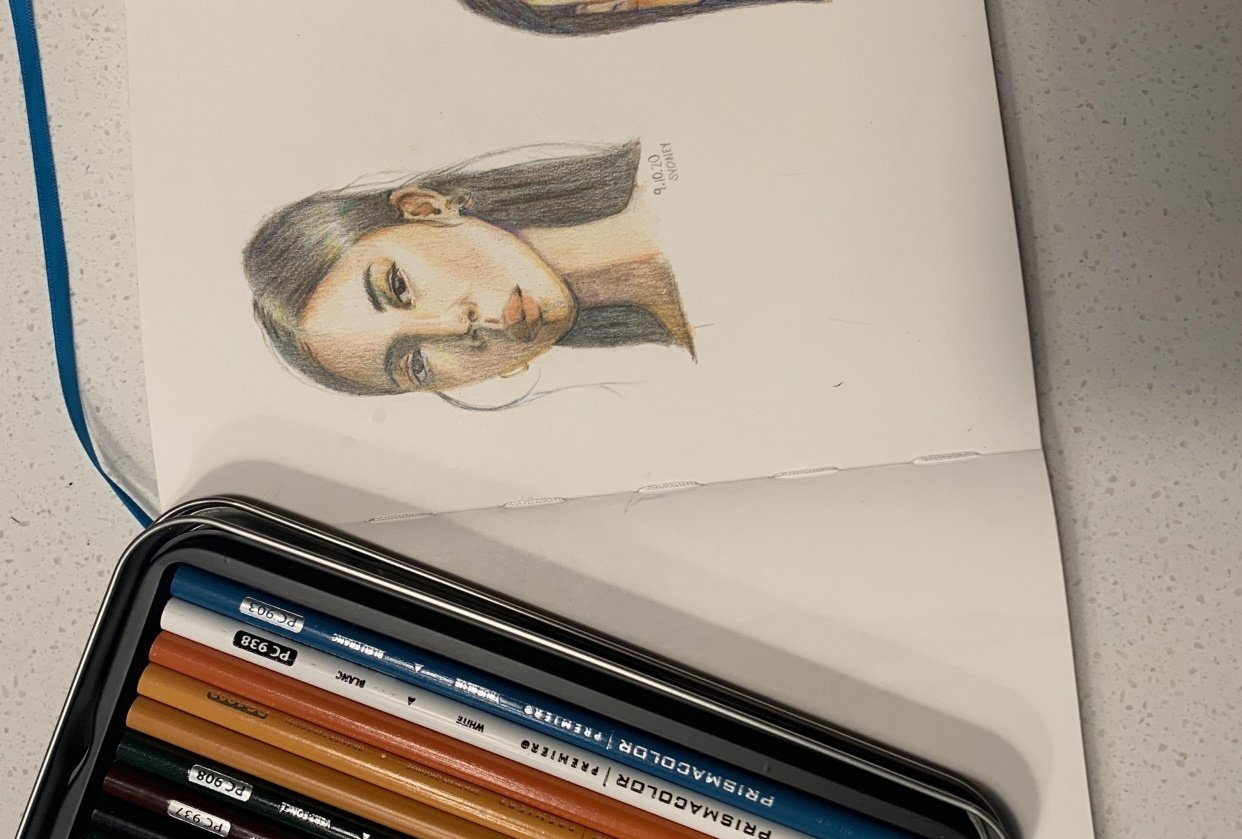 Colored pencil project - student project