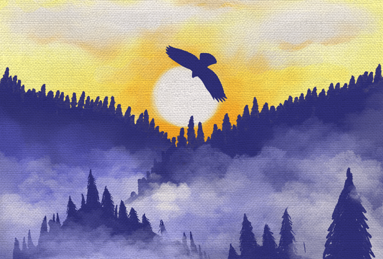 Sunrise Forest - student project