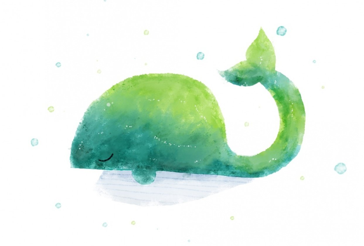 One happy whale - student project