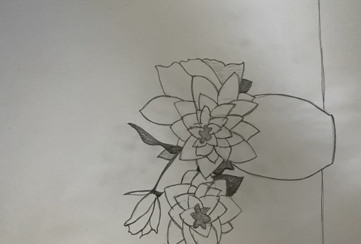First pencil draw for a while - student project