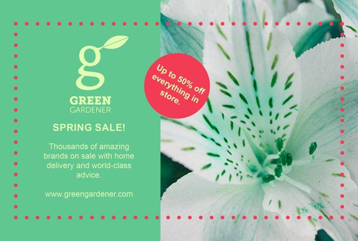 Green Gardener Flyer V1 - student project
