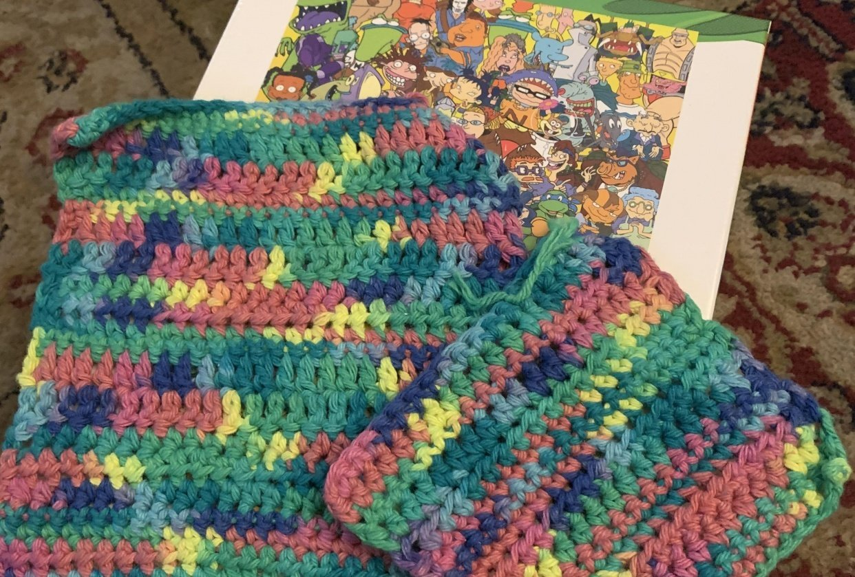Tie Dye Washcloths - student project
