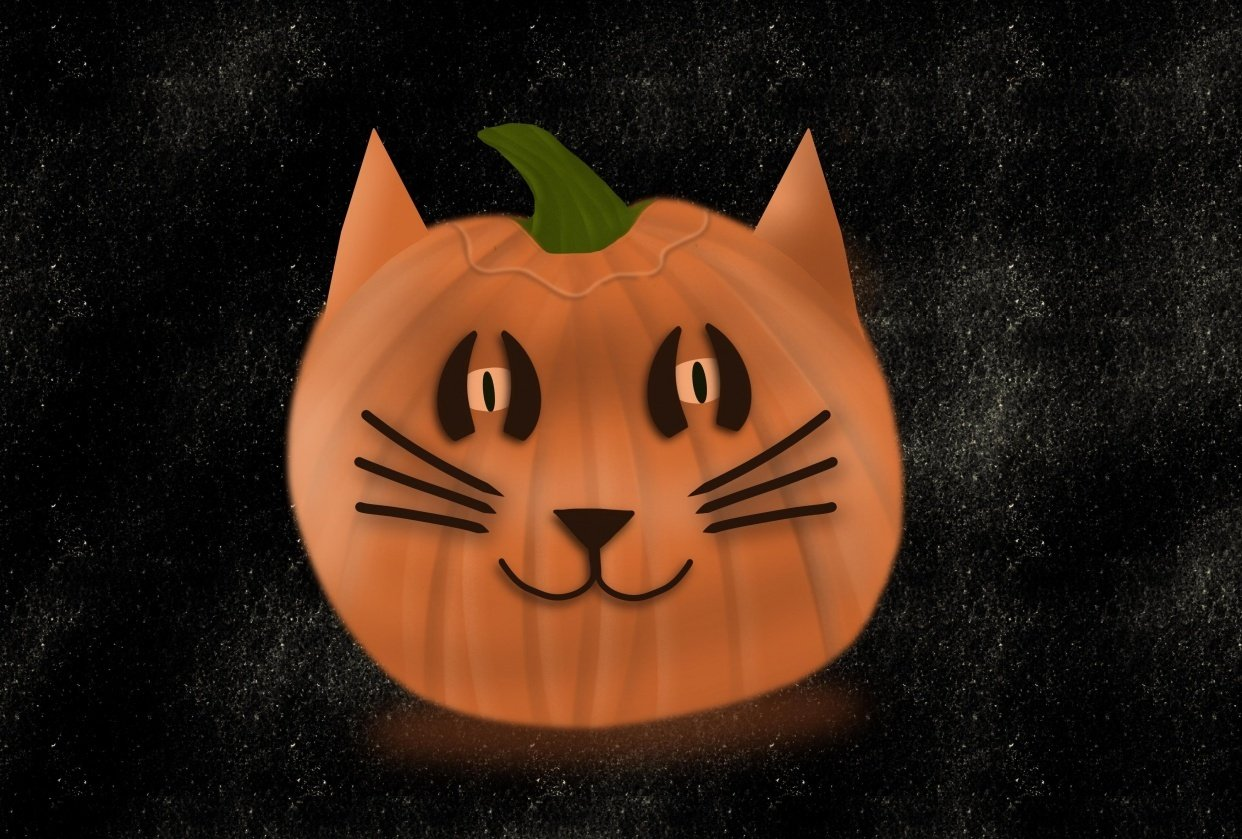 Kitty pumpkin - student project
