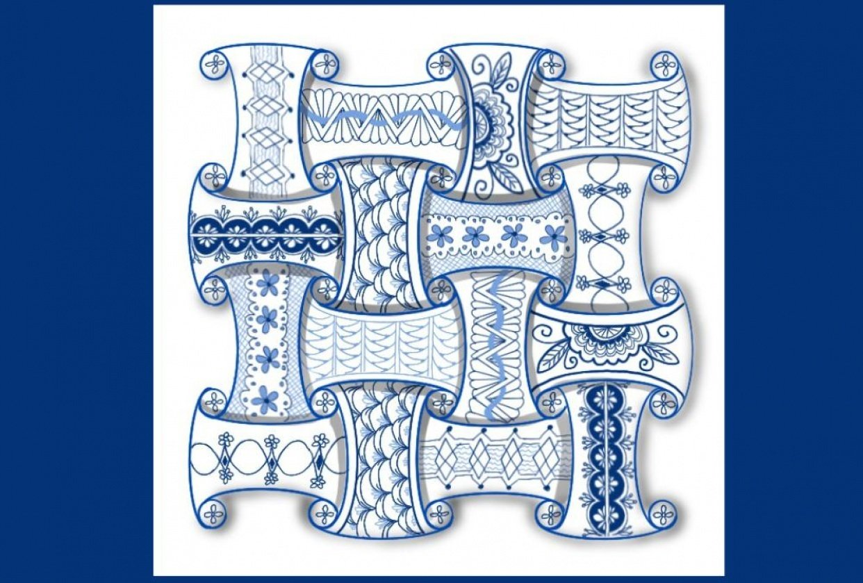Faux Delftware Tangle - student project