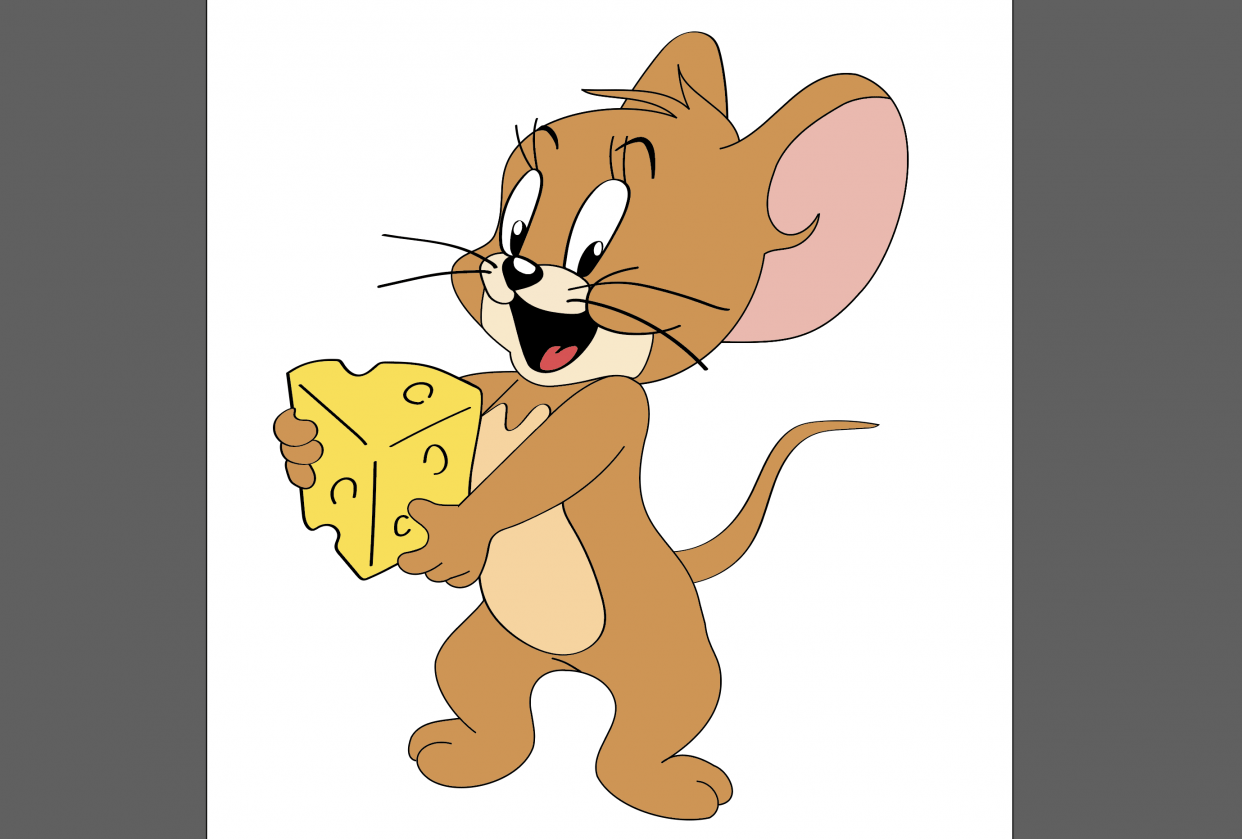 Jerry in Illustrator - student project