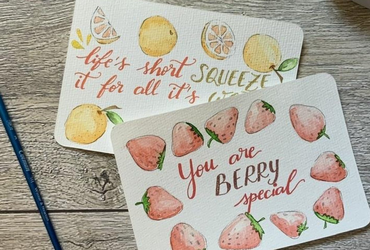 Fruity cards - student project