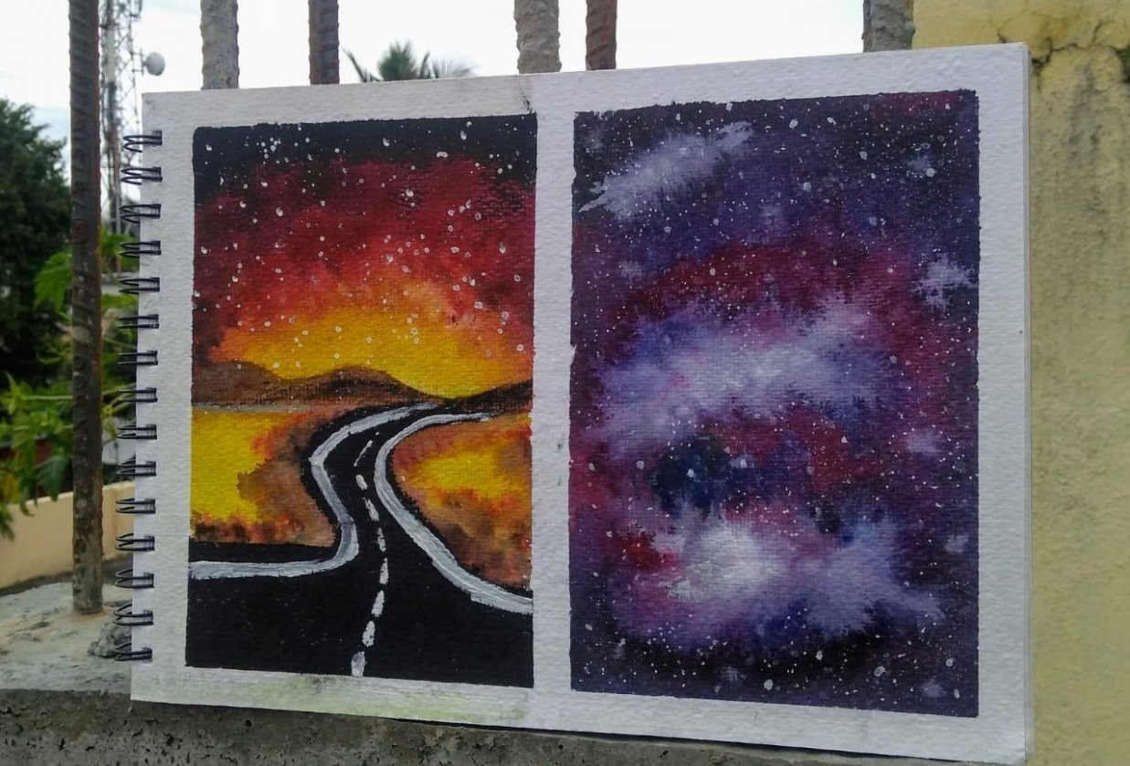 Watercolor Galaxies - student project